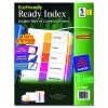Ready Index Customizable Table Of Contents Multicolor Dividers