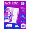Ready Index Customizable Table Of Contents Asst Dividers